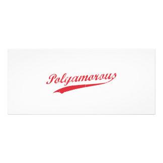 Team Polyamory Polyamorous und stolzes Vollfarbige Werbekarte