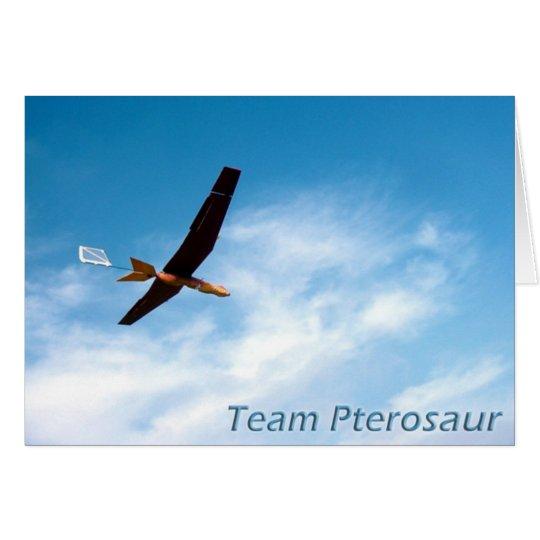 Team Pterosaur danken Ihnen zu kardieren Grußkarte