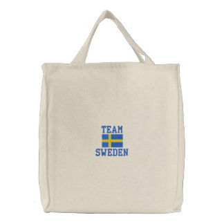 TEAM-SCHWEDEN-Skandinavier Bestickte Tasche