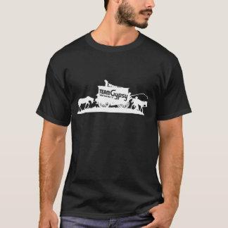 Team-Sinti und Roma - wanderndes dunkles T-Stück T-Shirt