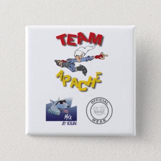 Teamapache-Abzeichen Quadratischer Button 5,1 Cm