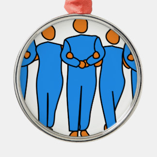 Teamwork Silbernes Ornament
