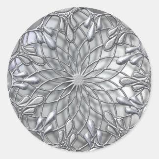 Teardrop Jeweled silberner Aufkleber