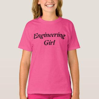 Technik-Mädchen-Wissenschafts-Mädchen-Rosa-Girly T-Shirt