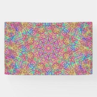 Techno färbt Muster-Fahnen, 4 Größen Banner