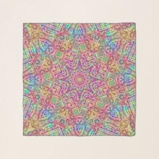 Techno färbt Vintagen Kaleidoskopchiffon-Schal Schal