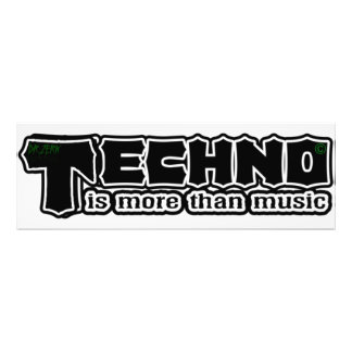 techno is more than music fotografischer druck