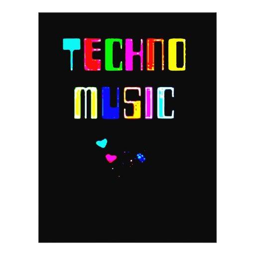 Techno Musikherz Flyers