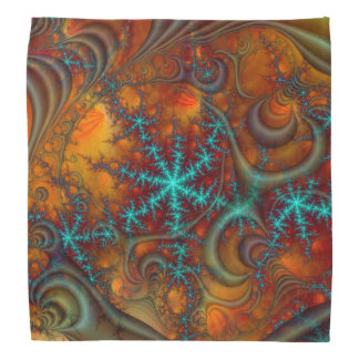 Techno psychedelisches Fraktal Kopftuch