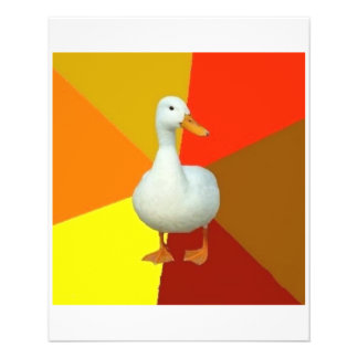 Technologisch gehindertes Enten-Ratetier Meme Bedruckte Flyer