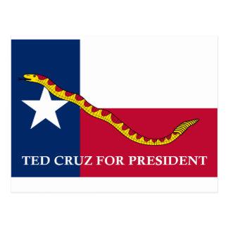 Ted Cruz für Präsident Marine Jack Postkarte