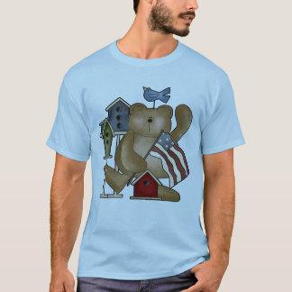 Teddy-Bär 4. von Juli-T - Shirts