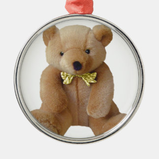 Teddy-Bärn-Baby, das Silbernes Ornament
