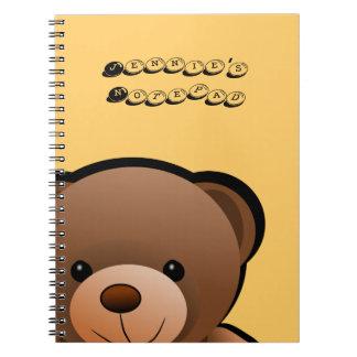 Teddy-Bärn-Druck personalisiert Spiral Notizblock