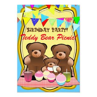 Teddy-Bärn-Picknick scherzt Party Karte
