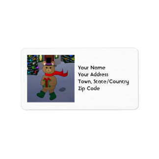 Teddybär-Adressen-Etiketten Adressaufkleber
