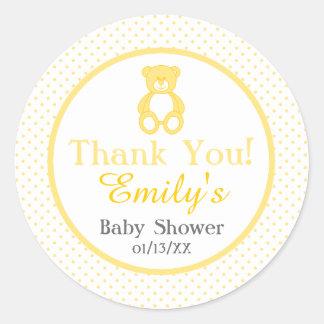 Teddybär-Babyparty-Aufkleber - Runder Aufkleber