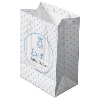 Teddybär-Babyparty-Bevorzugungs-Tasche - Junge Mittlere Geschenktüte