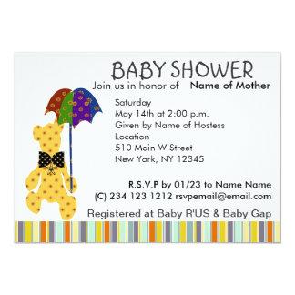 Teddybär-Babyparty-Einladung Karte
