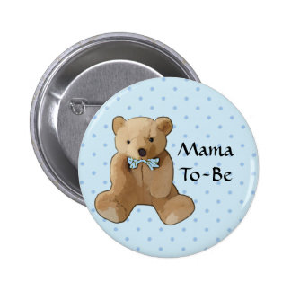 Teddybär-Babyparty-Knopf Mutter-To Be Runder Button 5,1 Cm