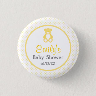Teddybär-Babyparty-Knopf - Unisex-/neutrale Person Runder Button 2,5 Cm
