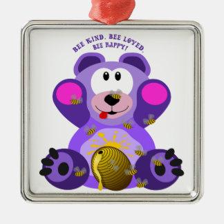 Teddybär-Bienen-nette Biene geliebte Biene Silbernes Ornament