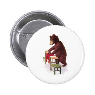 Teddybär bügelt Kleidung Runder Button 5,7 Cm