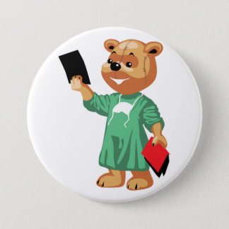 Teddybär-Doktor Button