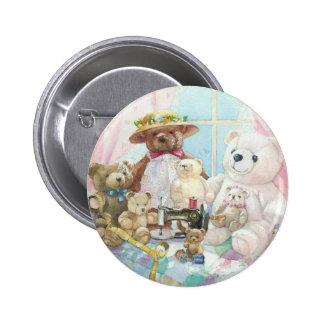Teddybär es oben! runder button 5,1 cm