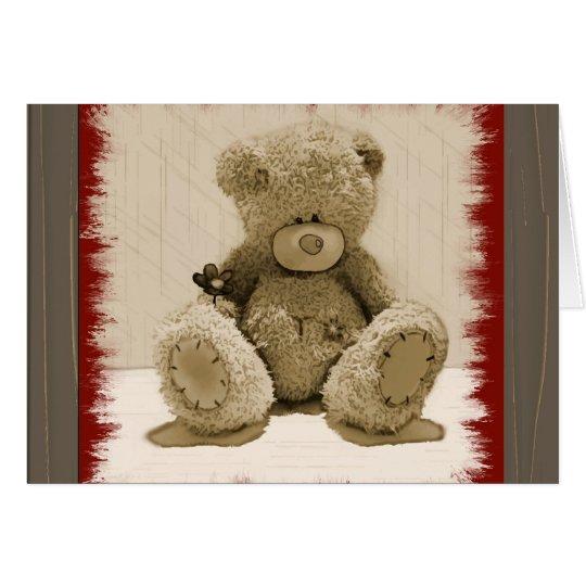 Teddybär für Sie Anmerkungs-Karte Mitteilungskarte