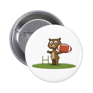 Teddybär-Fußball Runder Button 5,1 Cm