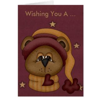 Teddybär-Geburtstags-Karte Grußkarte