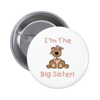 Teddybär-große Schwester Runder Button 5,7 Cm