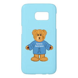 Teddybär in der Apraxie-Bewusstseins-Strickjacke