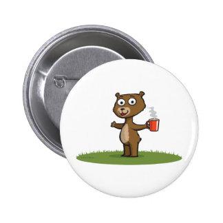 Teddybär-Kaffee Runder Button 5,1 Cm