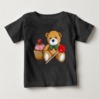 Teddybär, kleiner Kuchen und Lutscher, Baby T-shirt