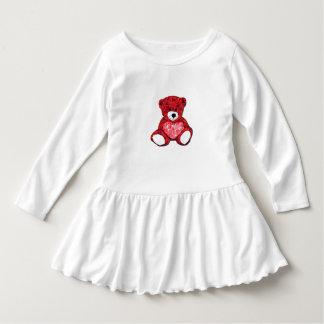 Teddybär-Kleinkind-Rüsche-Kleid Kleid