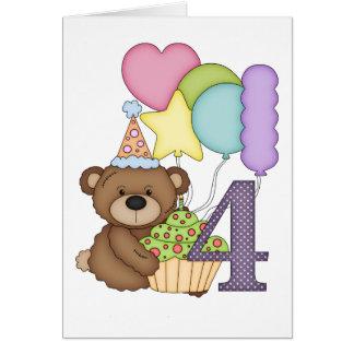 Teddybär mit Ballon-Kindervierter Karte