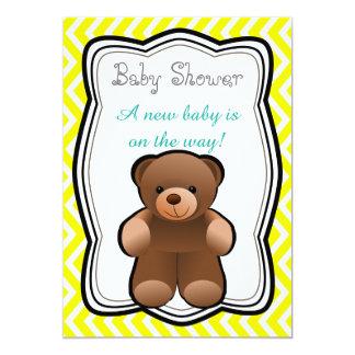 Teddybär-Person-Babyparty Karte