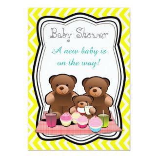 Teddybär-Picknick-Babyparty 12,7 X 17,8 Cm Einladungskarte