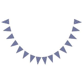 Teddybär-Picknick-Geburtstag - blauer Gingham Wimpelketten