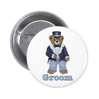 Teddybär Wedding - fertigen Sie besonders an Runder Button 5,7 Cm