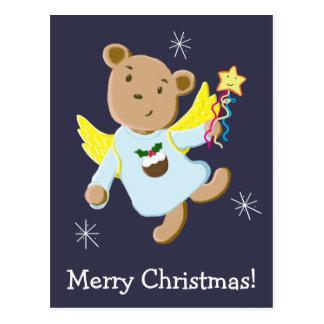 Teddybär-Weihnachtsengel Postkarte