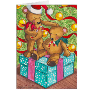 Teddybär-Weihnachtskarte Grußkarte