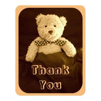 Teddybärsepia-Ton-Babyparty danken Ihnen zu Karte