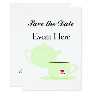 Tee-Feier Karte