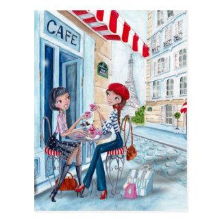 Tee in Paris - Postkarten