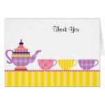 Tee-Party danken Ihnen Mitteilungskarten Grußkarte