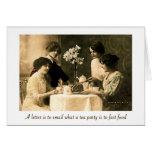 Tee-Party für das Soul Grußkarte