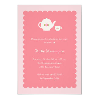 Tee-Party-Geburtstags-Einladung 12,7 X 17,8 Cm Einladungskarte